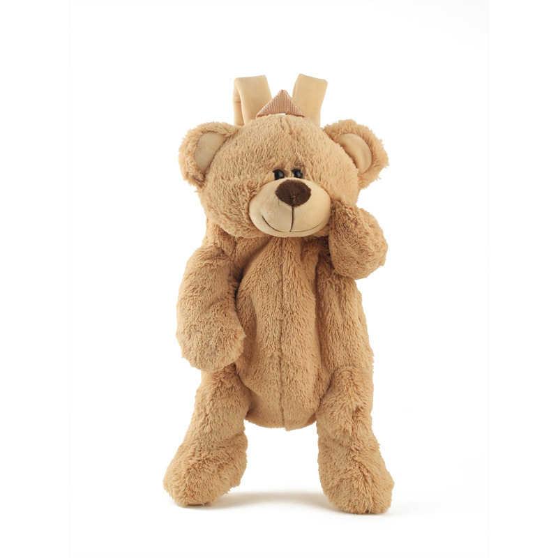 40 cm crianças bonito brinquedo de pelúcia adorável dos desenhos animados urso marrom mochila mochila mochila mochila meninas meninos do jardim infância aniversário presente natal