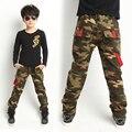 Nova Primavera 2016 Meninos Adolescentes de Jeans Para O Menino Do Bebê Camuflagem Calças Jeans Crianças Jean Crianças Elástico Na Cintura Denim Longo Pant