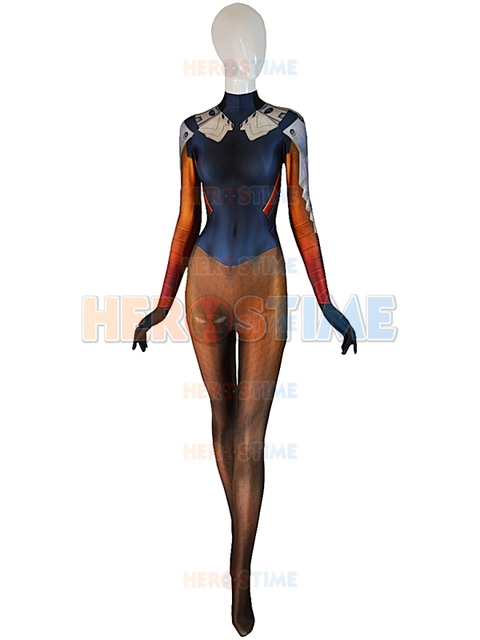 Mercy Costume Over watch cosplay game Mercy Undersuit Girl Cosplay Costume Lady Superhero Costume