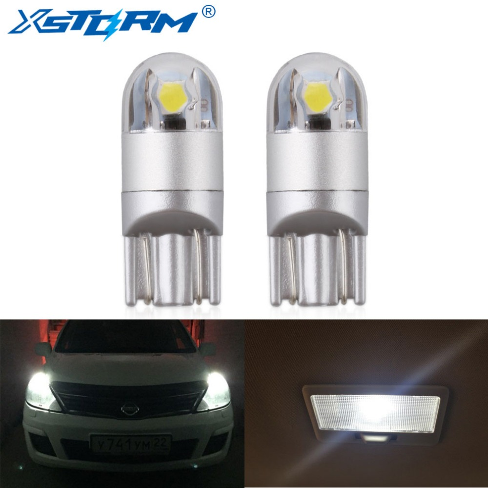 2x W5W Led T10 Bulb 194 168 Turn Signal License Plate Light Clearance 6000K White Red Yellow Blue 12V Auto Lamp Car Lights Bulbs high powered 6000k 18lm led vehicle signal lights 2 pack 12v t8 white