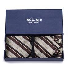 2019 high fashion men black skinny neck tie set handkercheif set 7.5cm width neckties jacquard corbata gift box packing marvis black box gift set