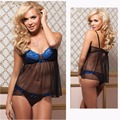 Athemis Sexy Lingerie Set blue and black lace dress for Silicone doll real sex doll outfit  custom made size