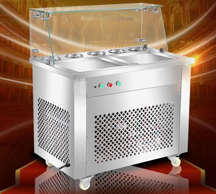 Shentop STFX-CB25 double pan ice cream rolls machines new style fried roll ice cream machine shentop stfx cb25 double pan ice cream rolls machines new style fried roll ice cream machine