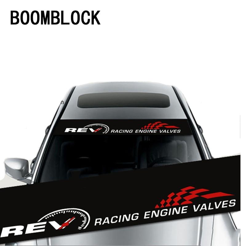 BOOMBLOCK Cool Car Front Rear Windshield Pattern Stickers For Saab Chevrolet Cruze VW Passat B5 B6 B7 Toyota Corolla 2008 RAV4