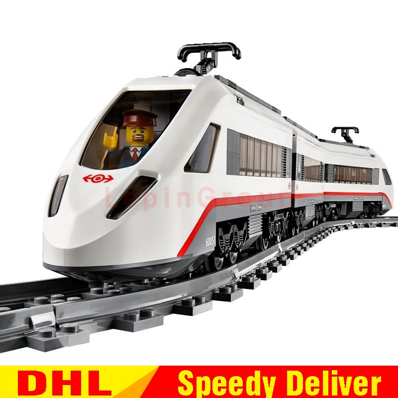 Lepin 02010 Creator Kits High-speed Passenger Train Remote-control Trucks Set Building Blocks Bricks legoings Toys Clone 60051 lepin 02010 city trains high speed passenger train model building blocks enlighten diy figure toys for children compatible 60051