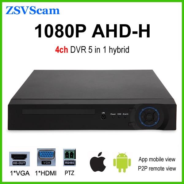 H.264 ahd-h 1080p 4ch cctv dvr hybrid 5 in 1 support AHD CVI TVI CVBS IP video input p2p cloud 5 in 1 security cctv dvr 4ch ahd 1080n h 264 hybrid video recorder for ahd tvi cvi analog ip camera onvif hdmi 1080p output
