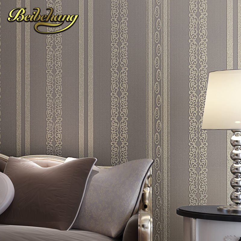 beibehang papel de parede Creative modern minimalist living room TV background wallpaper vertical stripes  bedrooms Non-woven beibehang papel de parede modern minimalist color vertical stripes non woven living room bedroom full shop wallpaper backdrop