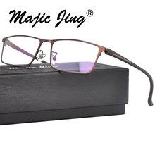 Magic Jing  metal prescription spectacles RX optical frames full rim myopia eyewear eyeglasses P9105