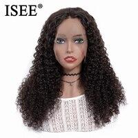 ISEE волос перуанские странный фигурные парик предварительно сорвал 150% плотность для Для женщин натуральный Цвет Remy 13x4 Синтетические волосы