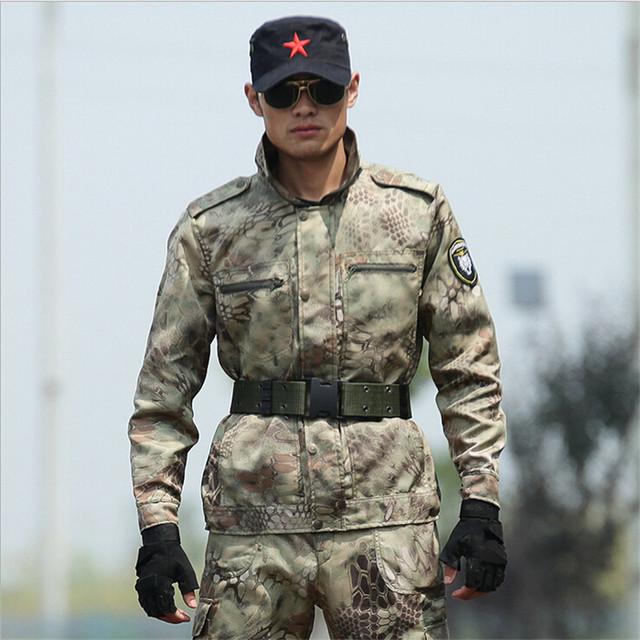 Envío libre 2016 Resorte pantalones Del Deporte Militar chaqueta Táctica Militar Del Ejército uniforme de combate al aire libre Traje de Entrenamiento Más El Tamaño
