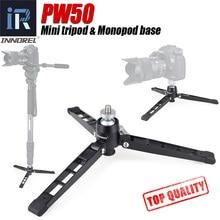 "Soporte para vídeo cámara Mini trípode monopod Todo el metal base del soporte de mesa de escritorio trípode con cabeza de bola de 1/4 ""3/8"" adaptador para DSLR"