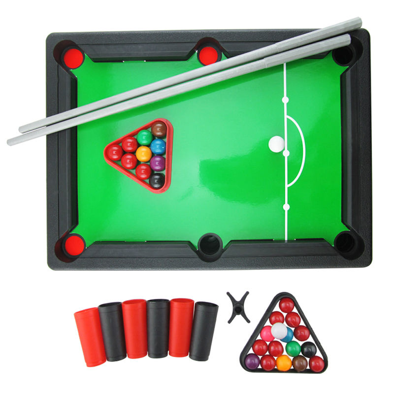 Mini Pool Table Game Toy Set Kids Table Top With Accessories Board Games  Educational Indoor Fun