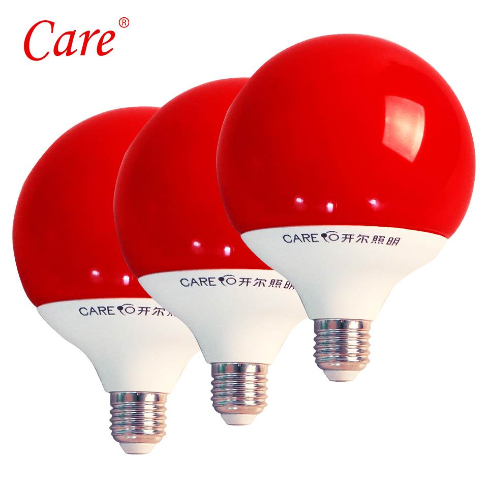 Care Big LED Bubble Ball Bulb G120 15W E27 Red Light Lampada Holiday LED Light Lamp Bulbs Decoration Bulb For Festival/Party