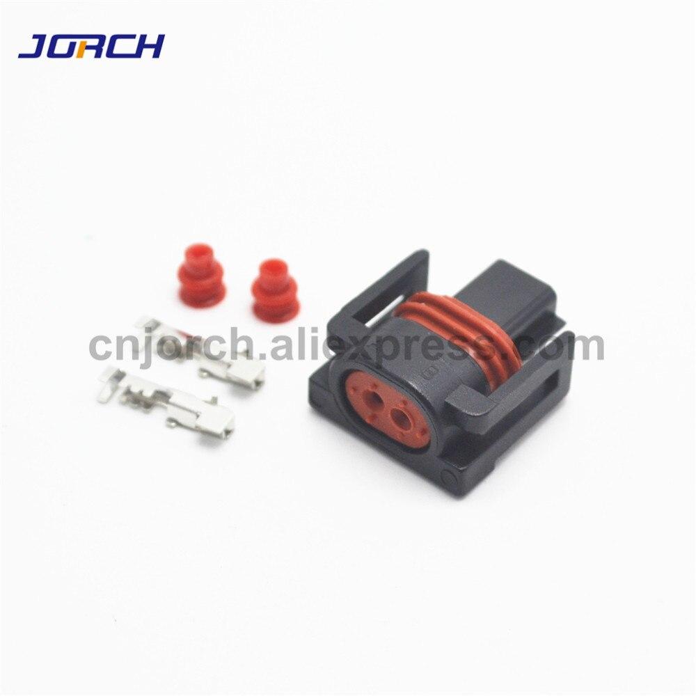 5sets 2 Pin Female Waterproof Car Connector Intake Air Temp Sensor Plug For Namz Type Delphi 12162215