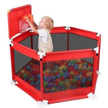 Kojec dla dziecka ogrodzenie składane bariery Park dla dzieci dzieci kojec Oxford tkaniny gry niemowlęta Ball Pit basen dla dzieci basen dla dzieci ogrodzenia plac zabaw dla dzieci tanie i dobre opinie Metal 3 lat Astm As nzs Stałe WJ3559#A11-0605 130CM*113CM*65CM beideli