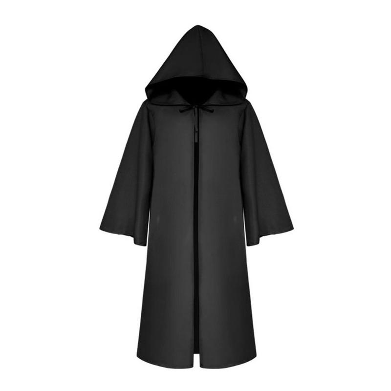 Halloween Costume Death Cloak Medieval Cape Star Wars Cloak Solid Color  Halloween Cosplay Props Adult S-XL