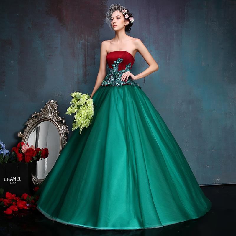 4804597720 Debutante vestido Rojo Verde Vestidos de Quinceañera Vestidos de ...