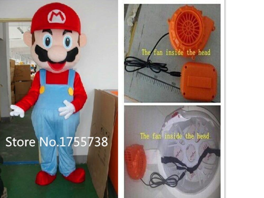 New Adult Super Mario Mascot Cartoon Mascot Costume Fancy Dress Free Shipping
