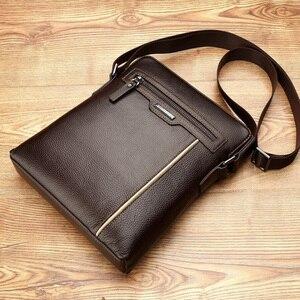 Image 3 - VORMOR Famous Brand Leather Men Bag Casual Business Leather Mens Messenger Bag Fashion Mens Crossbody Bag bolsas male