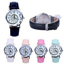 2016 Cool Black Digital Numbers Around Swirl Dia Watches Women Men Pattern Leather Analog Quartz-watch Watch Relogio Feminino