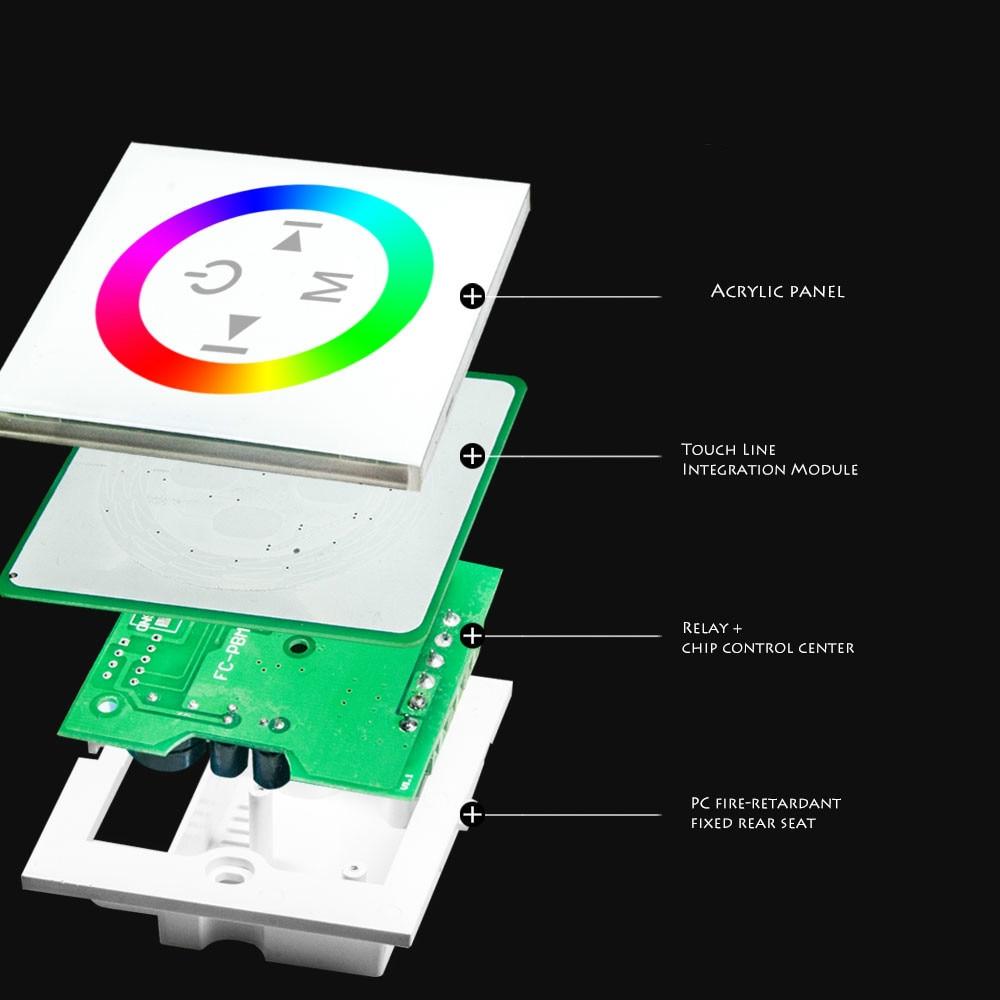 4A DC12V-24V / RGB Paneli i prekjes i udhëhequr nga kontrollori i - Aksesorë ndriçimi - Foto 4
