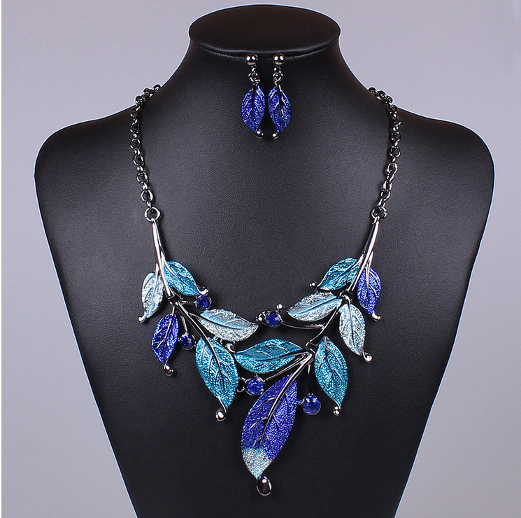 2014 Hot Sale Fashion Jewelry Sets Crystal Chain Jewelry Sets Women Necklace drop Earrings statement N1089