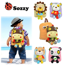 1pcs SOZZY baby kid backpack shoulder bag snack package for children 2-5 years old Plush Backpacks