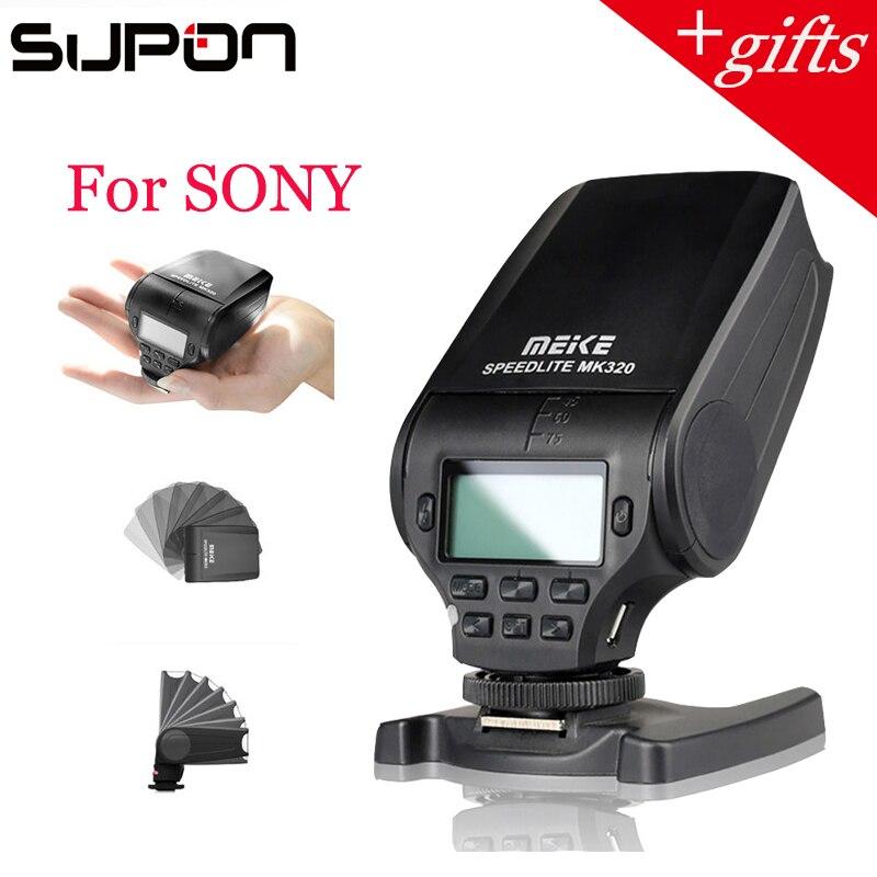Meike MK320S MK-320 TTL Flash (GN32) Speedlite para Sony A58 A77 A7 III A7S A7R A6000 A6500 NEX-6 NEX-5R NEX-5T NEX-3