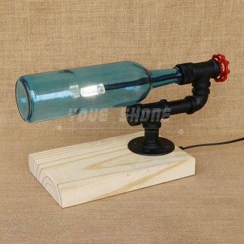 Disegno Di Modo 4 Colori Base In Legno Winebottle Desk Lamp