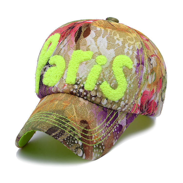 Autumn and winter baseball cap embroidered towel Ms. bright lace PARIS  outdoor leisure hats wholesale-in Baseball Caps from Apparel Accessories on  ... e04131a8e236