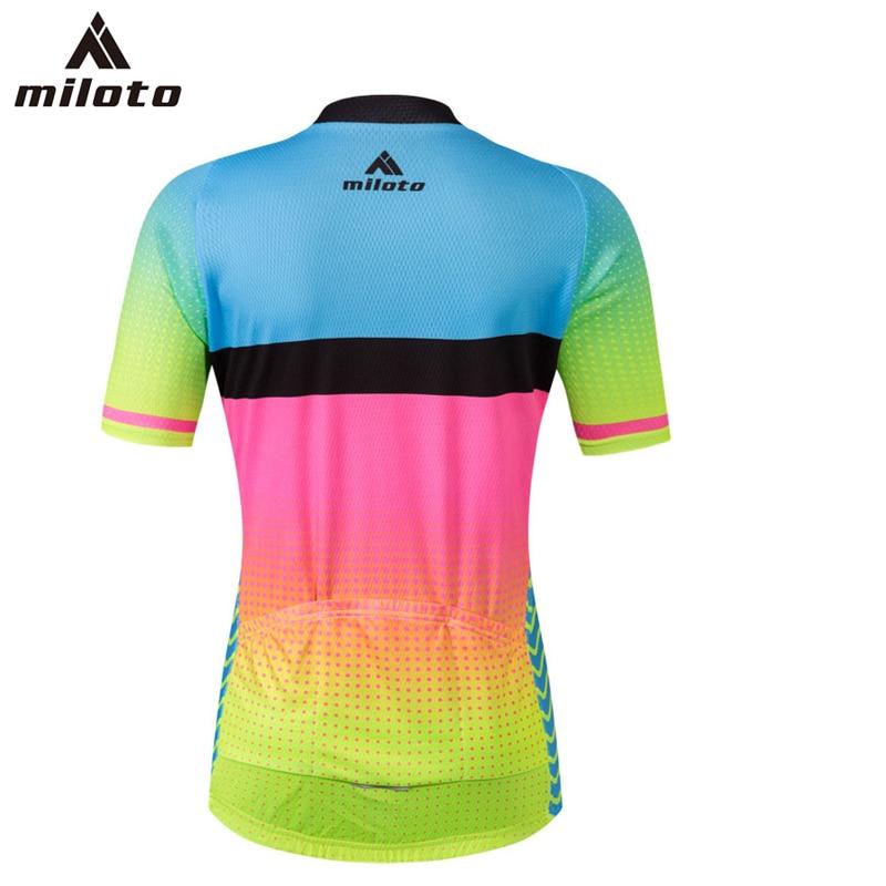 Miloto High Quality Short Sleeve Cycling Jersey Pant Sets roupas ciclismo Gel Breathable Pad Bib Shorts Cycling clothing Women