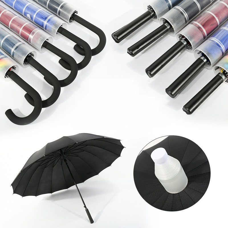 Long Handle Straight Rain Umbrellas With Waterproof Cover Case Men Woman Creative Windproof For Outdoor Travel Umbrellas Gift