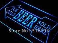 S148 Cerveza Helada Vendido Aquí Bar Pub LED Luz de Neón Regístrate Encendido/Apagado 20 Colores 5 tamaños