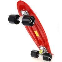 Multicolor Professional Unisex Complete Skateboard Deck Kids Double Dragon Skateboard Mini Children Plastic Skate Board