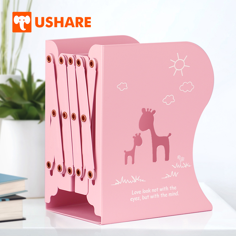 Super Us 29 97 30 Off Ushare Cute Bookends Adjustable Book Holder Book Shelf Metal For Girls Pink Desk Accessories Organizer Home Supplies Items Gifts In Download Free Architecture Designs Estepponolmadebymaigaardcom