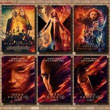 X-Men: Black Phoenix Movie Poster, Retro Wall Sticker, Retro Poster, Kraft Paper Poster, Movie Wall Sticker movie