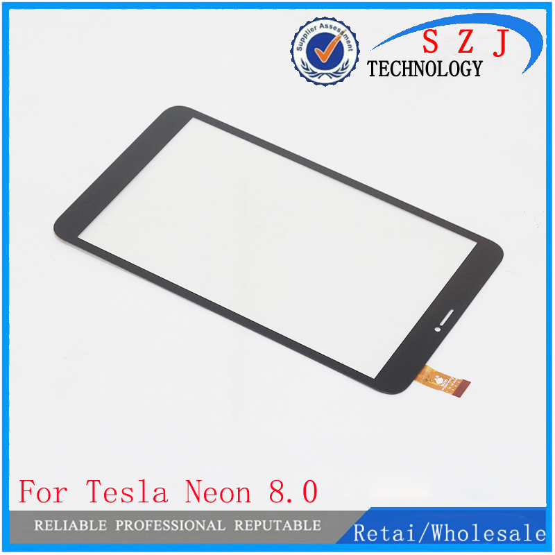 New 8'' inch Touch screen Digitizer For Tesla Neon 8.0 Tablet Touch panel Glass Sensor replacement Free Shipping new touch screen touch panel glass sensor digitizer replacement for 8 inch odys winkid 8 tablet free shipping