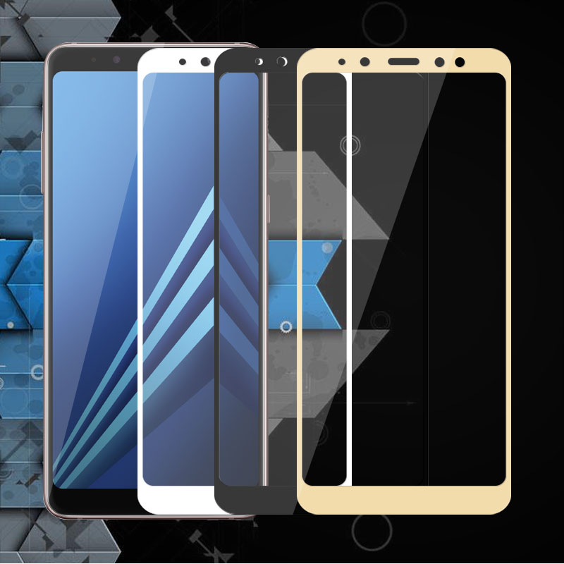 Tempered Glass Protective Flim For Galaxy A8 2018 5.6 inch Full Cover Flim For Samsung <font><b>A82018</b></font> A530F Screen Protector Glass image