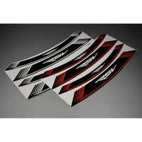 Motorcycle 8X outer edge stripe sticker thick edge reflective decals for APRILIA RSV RSV1000 1000R