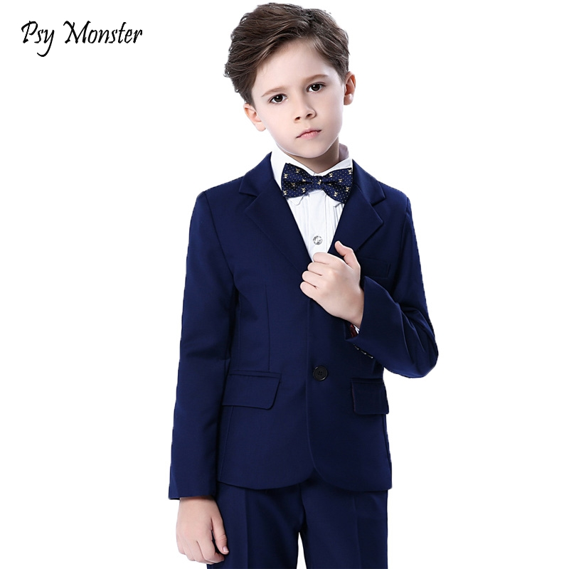 Boys blazers kids Boys suits for weddings Prom Suits Wedding Dress for Boys Kids tuexdo Children Clothing Set Blazers for Boys kids blazers jackets blue patchwork clothing set for baby clothes boys wedding dress children lounge suit terno infantil blazers