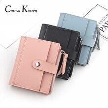 Новая женская короткая Повседневная маленькая сумка для карт на молнии с пряжкой, супер мягкая кожаная маленькая сумочка с карманом, кошелек, сумочка для карт, модная сумочка