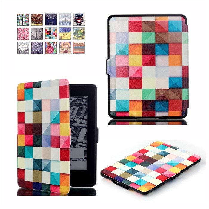 100Pcs/Lot PU Leather Smart Cover Case for Amazon Kindle Paperwhite 1/2/3 Version + 100 Pcs Screen Protector Gift ultra thin smart flip pu leather cover for lenovo tab 2 a10 30 70f x30f x30m 10 1 tablet case screen protector stylus pen