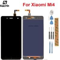 Xiaomi 4 Için hacrin Mi4 Lcd Ekran Yüksek Kalite Lcd ekran + Dokunmatik Panel Için Ücretsiz Araçlar Ile Xiaomi4 M4 MI4 Samrt telefon