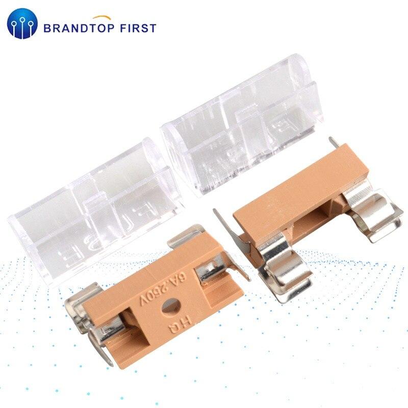 5*20mm 6*30mm glass fuse holder transparent holder with transparent cover fuse