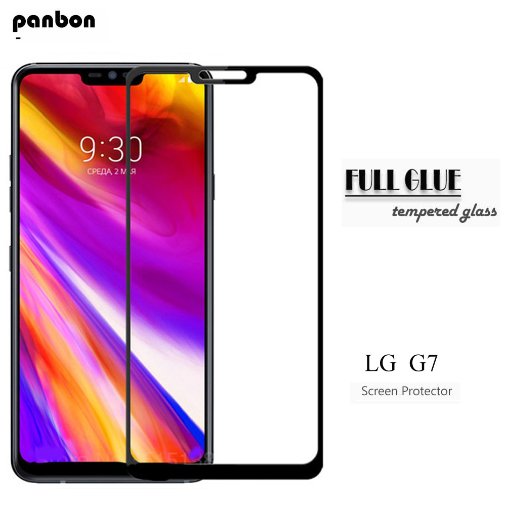 Panbon Original Tempered Glass For LG G7 ThinQ G7 One Full Glue Cover Screen Protector Protective Film For LG G7 G7 Fit Glass