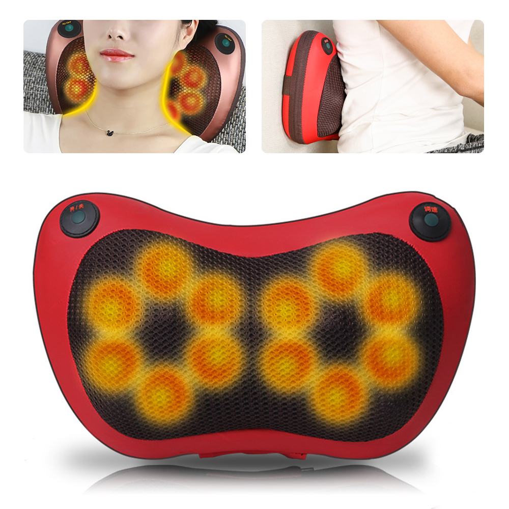 8 6 4 Head Shiatsu Massage Pillow Home Car Back Neck Massager Cushion Relief Pain Waist