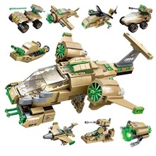 Combact Zones Series 8 in1 Deformation Aircraft 369 pcs Military Building Blocks Compatible With LegoeINGlys death zones