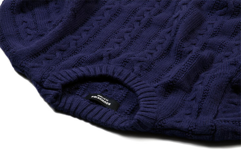 AutumnWinter 2016 New Arrival Children\'s Twist Knitted Sweater Kid Thicken Warm Sweater Long Sleeve O-Neck Baby Pullover CMB202 (3)