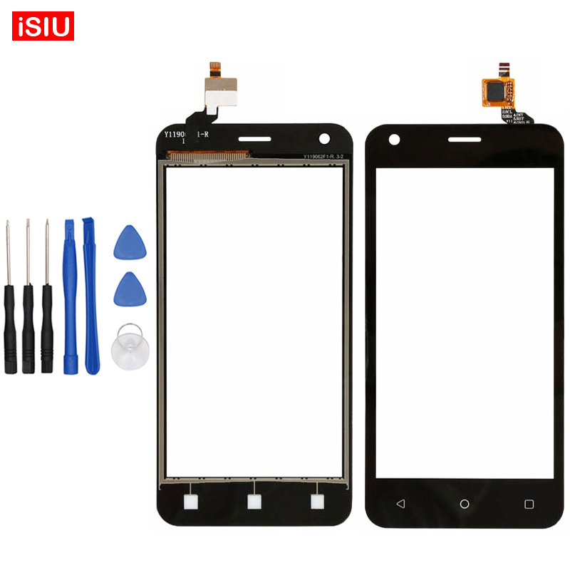 4.5 inch Black / White For Fly FS454 Nimbus 8 FS 454 Nimbus8 LCD Touch Screen Lens Glass Outer Front Panel + Tools