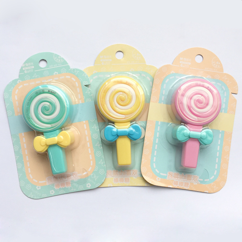 Sweet Lovely Lollipop Kawaii White Out Corrector Practical Correction Tape Stationery Student Prize School Office Supply